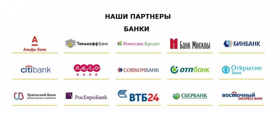 наши банки-партнеры